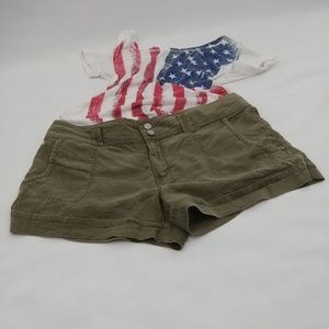 Sanctuary Olive Green Shorts